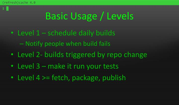 Basic Usage / Levels