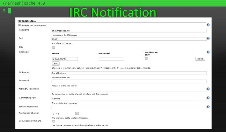 IRC Notification