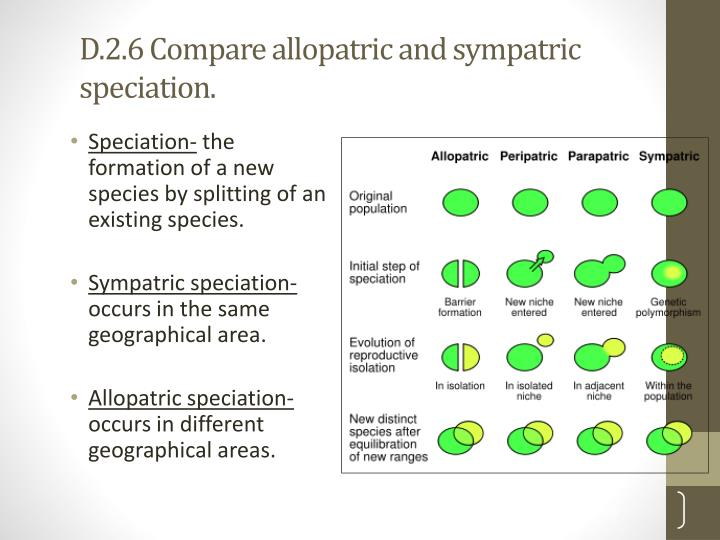 allopatric and sympatric Speciation questions study and discussion questions for speciation by phd students from stanford, harvard, berkeley.
