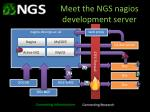 meet the ngs nagios development server