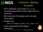 problems fighting firewalls