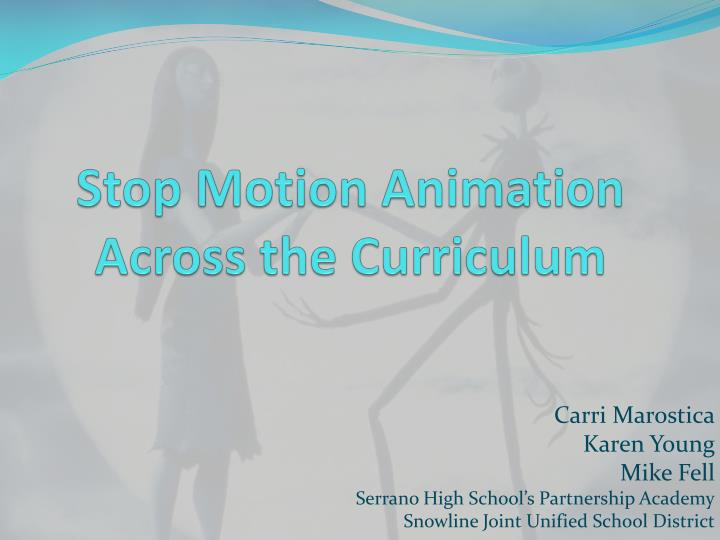 Stop motion animation across the curriculum