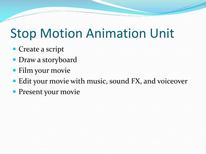 Stop Motion Animation Unit