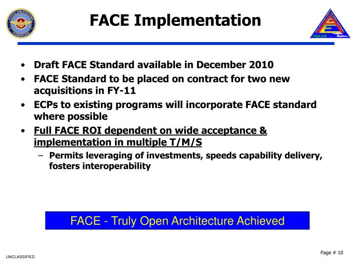 FACE Implementation