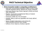 face technical objective