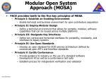 modular open system approach mosa