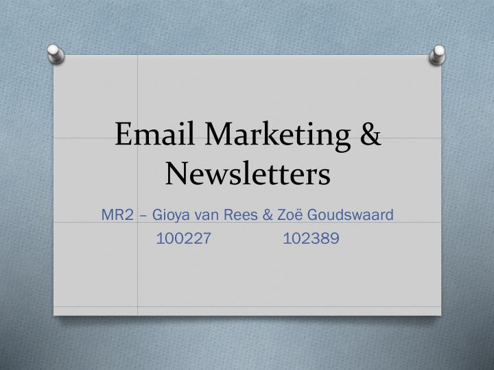 Email marketing newsletters