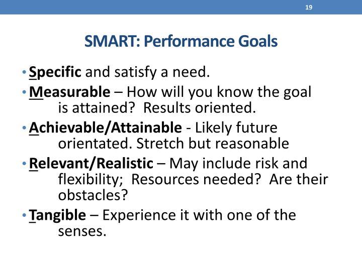 SMART: Performance Goals