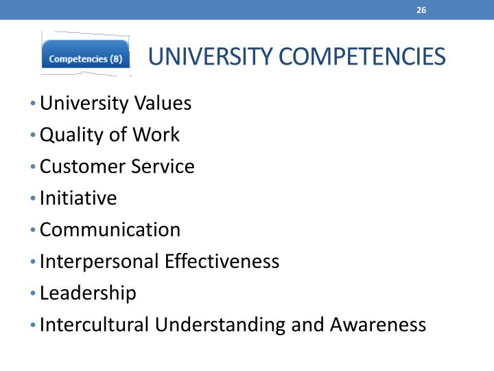 `UNIVERSITY COMPETENCIES