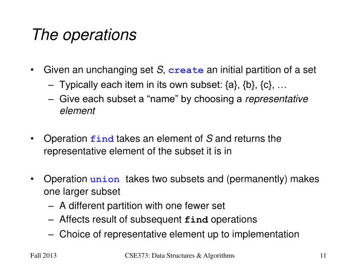 The operations