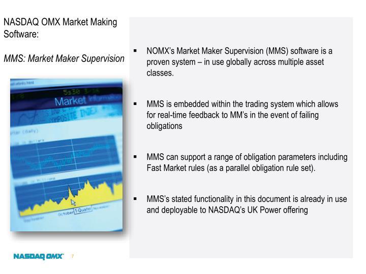 NASDAQ OMX Market Making Software: