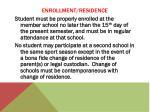 enrollment residence4