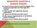 mandatory question answer session5