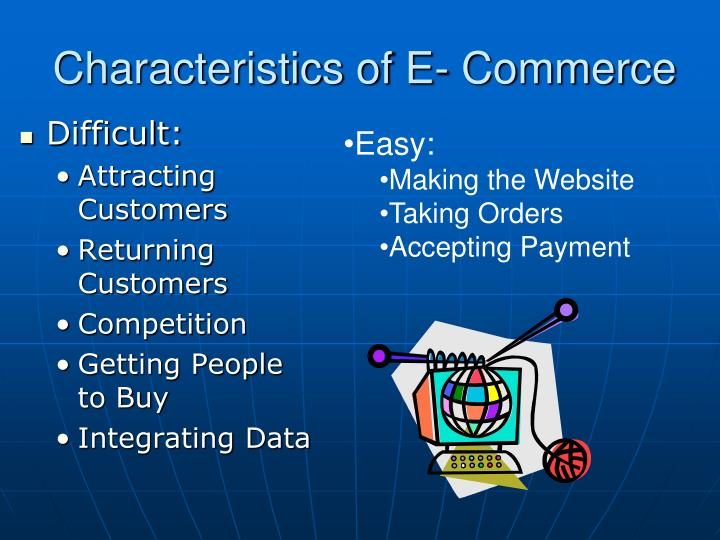 Characteristics of E- Commerce