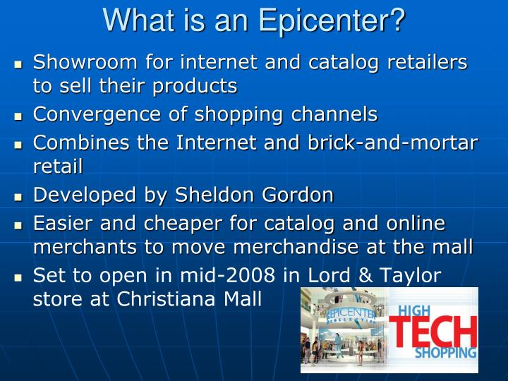 What is an Epicenter?