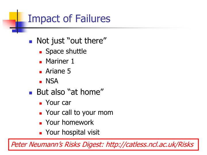 Impact of Failures