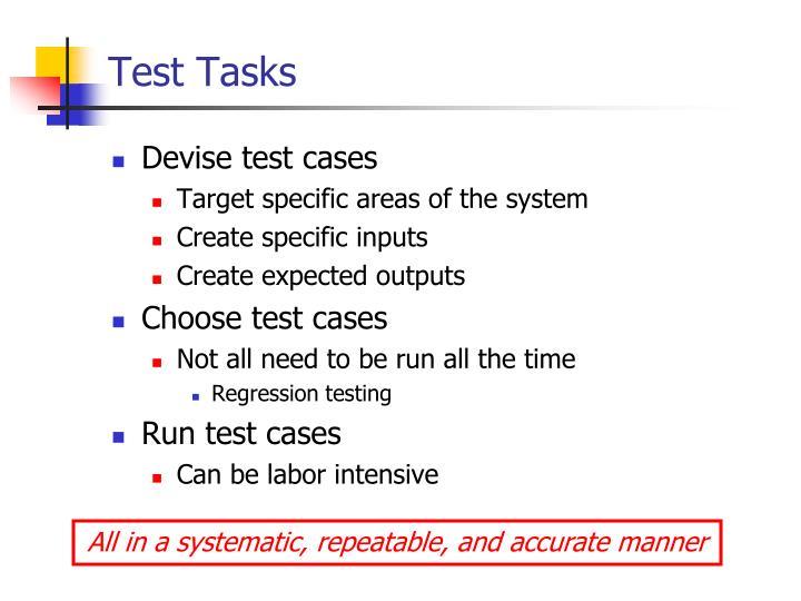 Test Tasks
