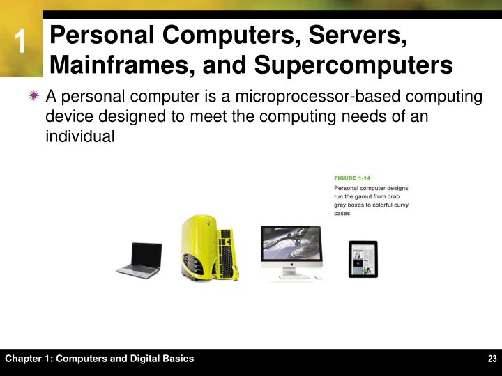 Personal Computers, Servers, Mainframes, and Supercomputers