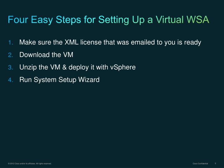 Four Easy Steps for Setting Up a Virtual WSA