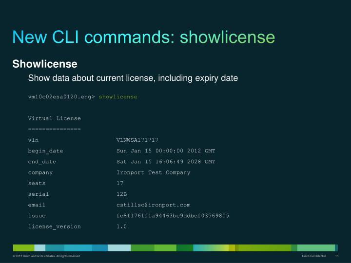 New CLI commands: