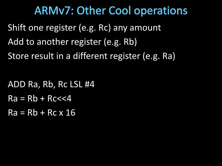 ARMv7: