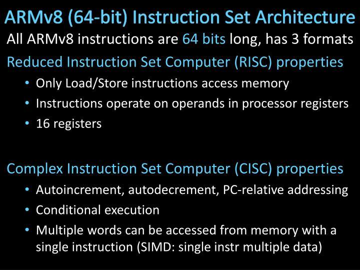 ARMv8 (64-bit) Instruction