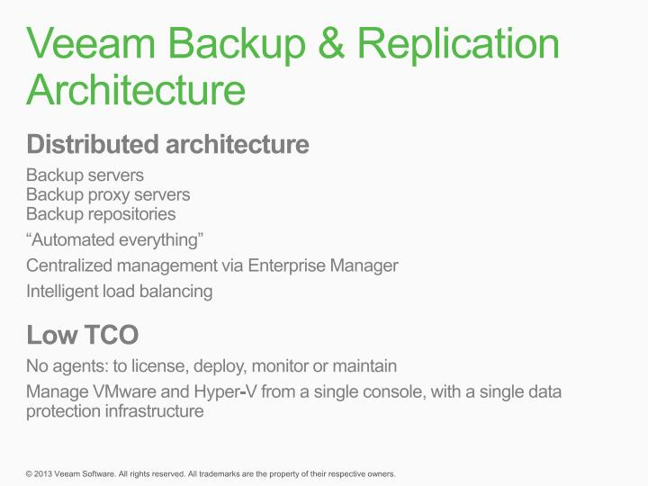 Veeam Backup & Replication Architecture