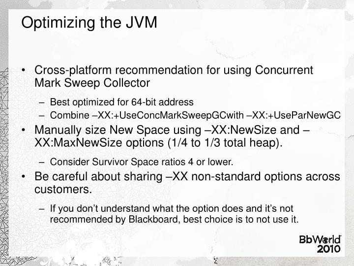 Optimizing the JVM