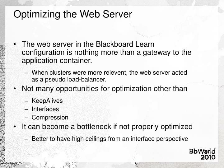 Optimizing the Web Server