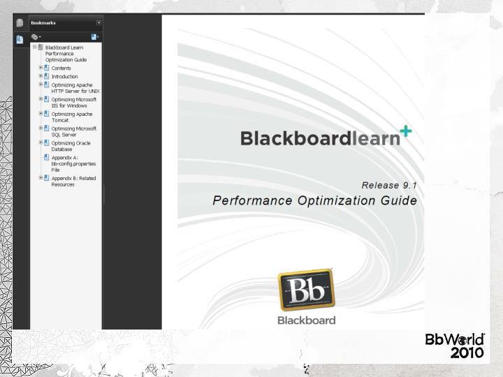 Best practices for optimizing blackboard learn