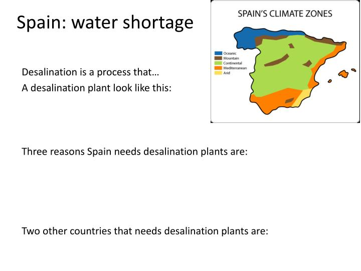 Spain: water shortage