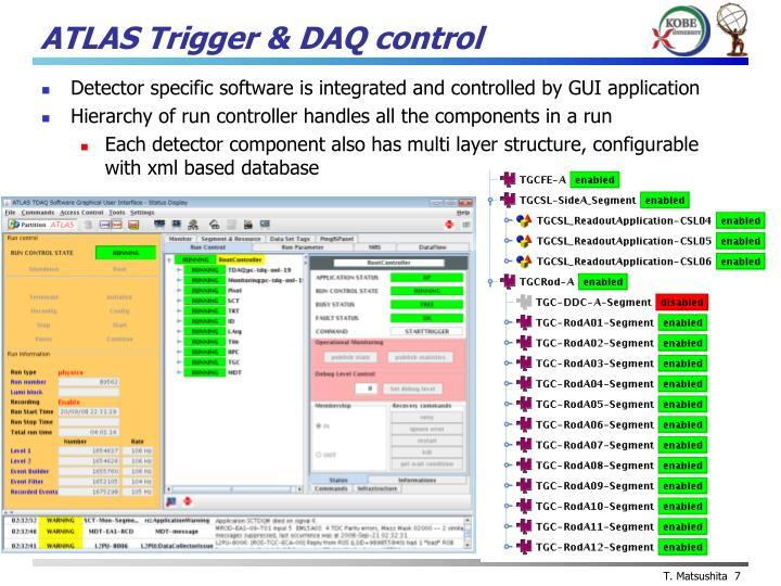 ATLAS Trigger & DAQ control