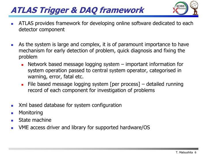 ATLAS Trigger & DAQ framework