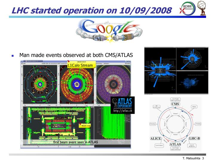 Lhc started operation on 10 09 2008
