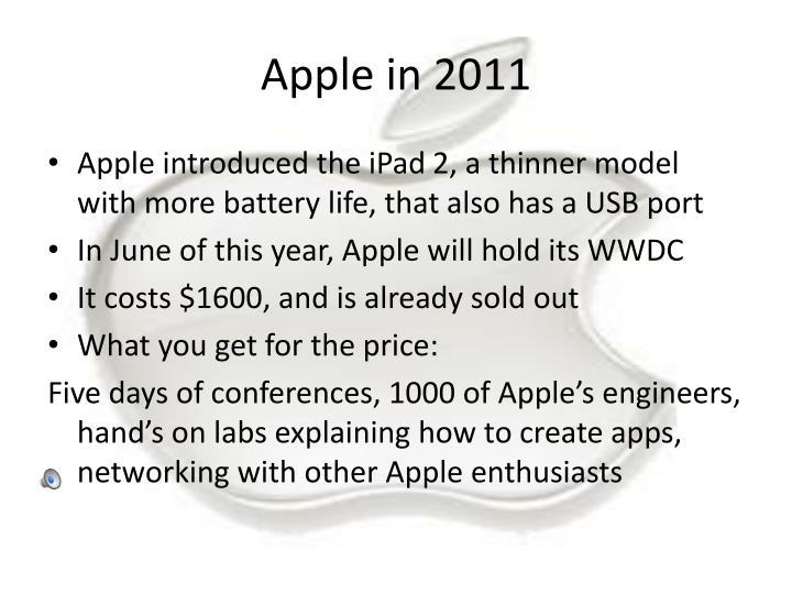 Apple in 2011