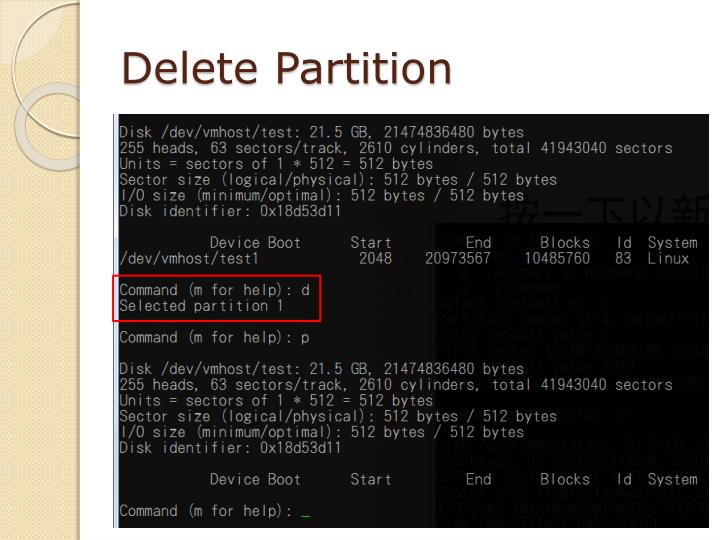 Delete Partition