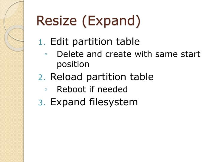 Resize (Expand)