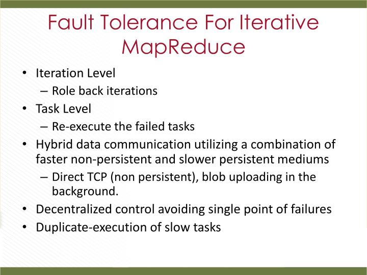 Fault Tolerance For Iterative