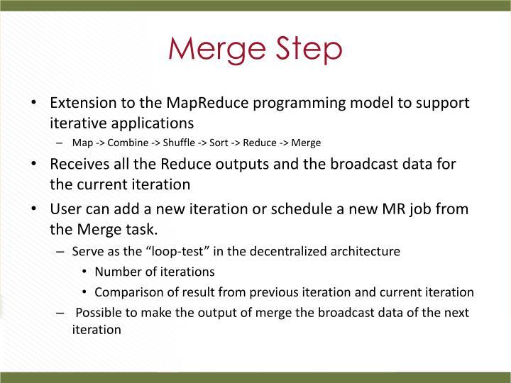 Merge Step