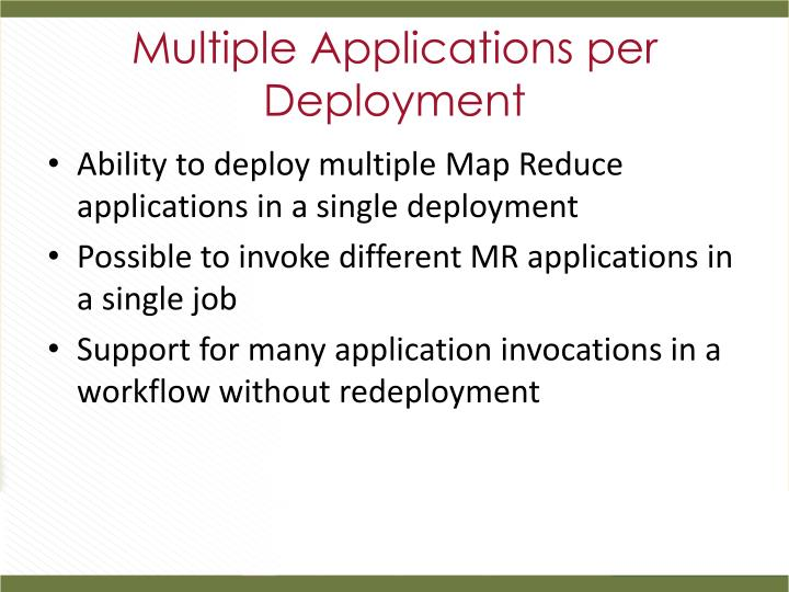 Multiple Applications per Deployment