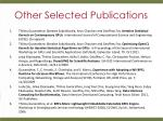 other selected publications