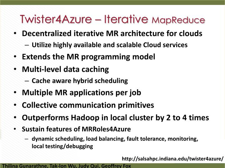 Twister4Azure – Iterative