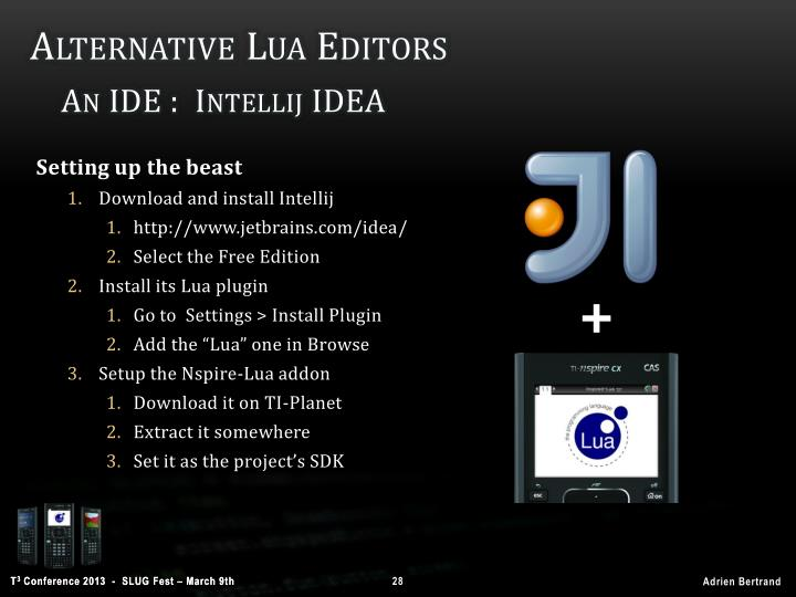 Alternative Lua Editors
