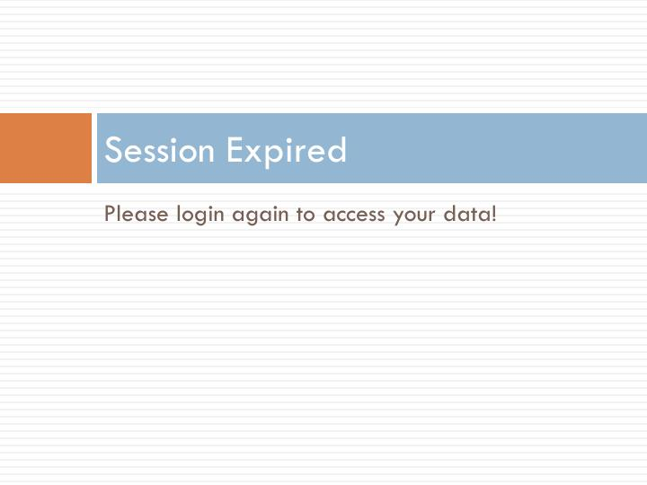 Session Expired