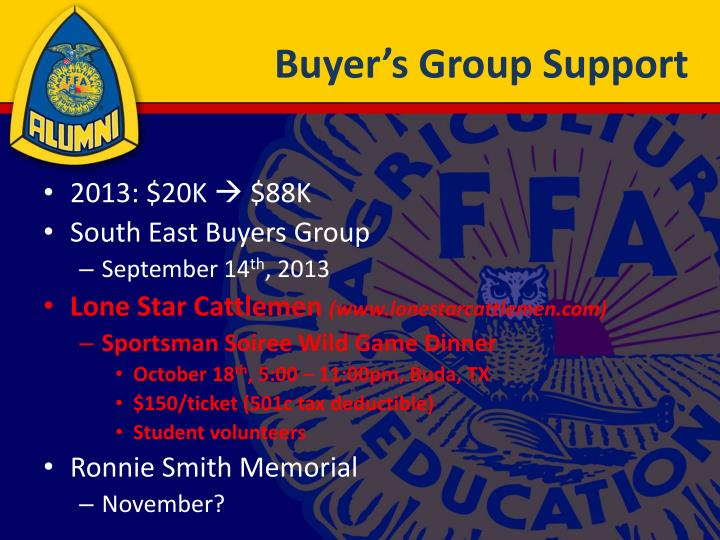 Buyer's Group Support