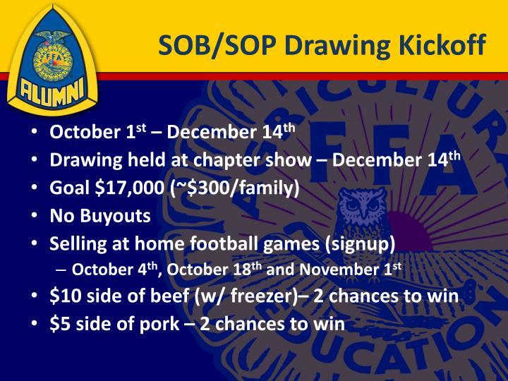 SOB/SOP Drawing Kickoff