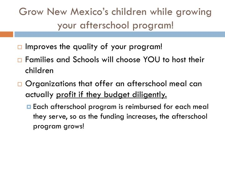 Grow New Mexico's children while growing your afterschool program!