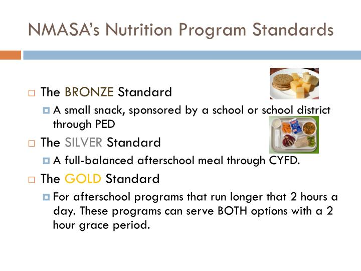 NMASA's Nutrition Program Standards