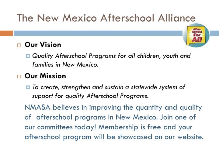 The New Mexico Afterschool Alliance