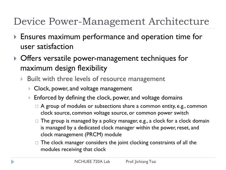 Device power management architecture